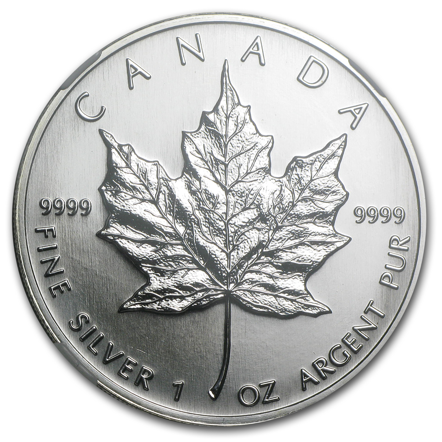 1997 1 oz Silver Canadian Maple Leaf MS-68 NGC